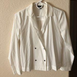 NWOT - Sheer white blazer